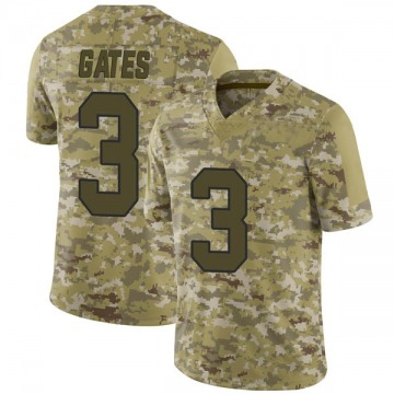 Youth DeMarquis Gates Washington Redskins Nike Limited 2018 Salute to Service Jersey - Camo